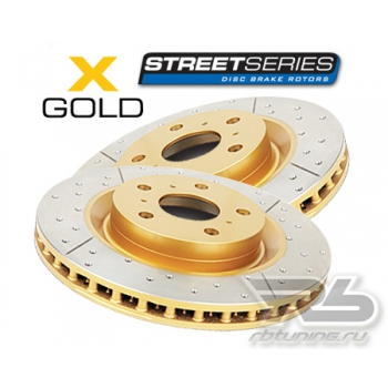 DBA Street Gold Задние тормозные диски (2 шт) Range Rover Sport Supercharged (05-)